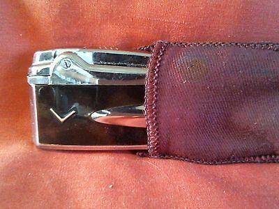 @@@  A VERY NICE RONSON PREMIER Mk1 VARAFLAME POCKET LIGHTER  & POUCH - GWO