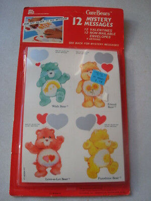 New vintage Sealed Care Bear 12 Mystery Messages Plus Mark 1987 Cards valentine