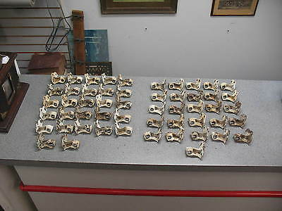 53 Matching Architectural Antique Cast Iron Shutter Hinges Lot, 27 Left 26 Right