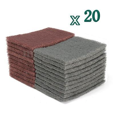 20 PCS Abrasive Finishing Polishing Industrial Scouring Pads 360Grit & 1500Grit