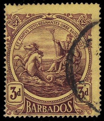 "BARBADOS 132a (SG186a) - KGV Colonial Badge ""1919 Thick Paper"" (pa35824)"
