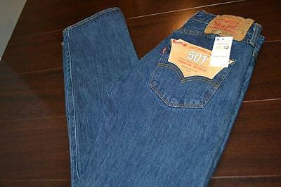 8693-a Mens Levis 501 XX Blue Jean Button Fly 100% Cotton Size 32 x 30 NEW