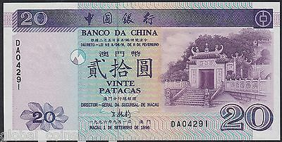 Hong Kong - 1996 20 Patacas Bank Of China P. 91