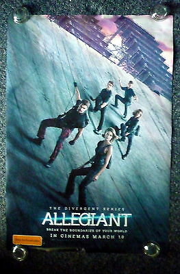 ALLEGIANT Original 2010s Advance OS Movie Poster Shailene Woodley,  Theo James