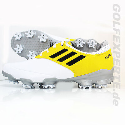 Adidas Golf Hombre Zapatos De Golf Adizero Tour Blanco / Plata / Amarillo