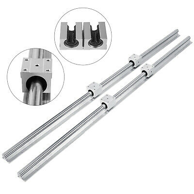 SBR 20-1200mm 20MM LINEAR SLIDE GUIDE SHAFT 2 RAIL+4SBR20UU Bearing Block CNC se