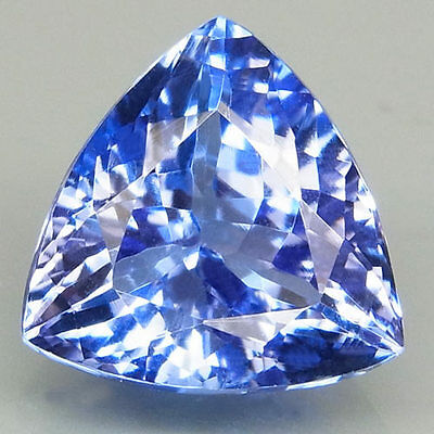 2.44ct.WINSOME GEM! 100%NATURAL TOP PURPLISH BLUE TANZANITE D BLOCK 8.7MM.AAA!