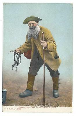Edwardian Era. Brusher Mills, New Forest Snake Catcher. Stuart Series Clr Pc