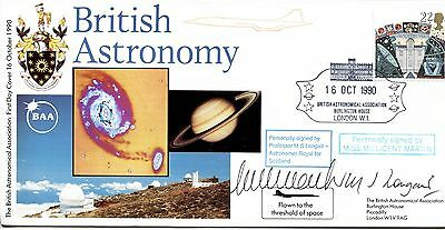 British Astronomy 1990 SIGNED CERTIFIED Millicent Martin, MS Longair, Concorde
