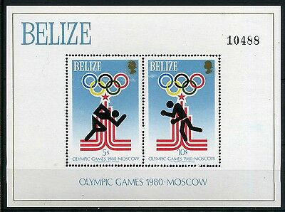Belize MiNr. Block 10 postfrisch/ MNH Olympiade 1980 (Oly246