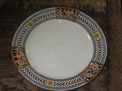 Antique Wedgwood Etruscan Pattern Plate C1878 Gothic Revival 26Cms