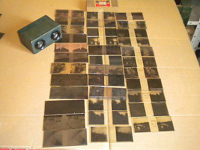 Collection of Glass plate Stereoviews and negatives plus Bruguiere 1940s