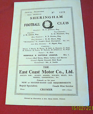 SHERINGHAM  V   C.E.Y.M.S  MARCH 24th