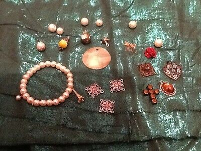 Costume Jewellery Mixed Lot Loose Pieces Beading Wire