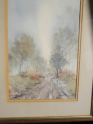 The Bridleway Signed Watercolour Print Wood Framed Picture By Anthony Waller