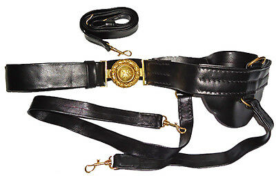 American Civil War Confederate Officers Leather Sword Belt & Buckle New In Stock