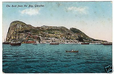 GIBRALTAR - Rock From The Bay - Printed In Saxony - c1900s era postcard
