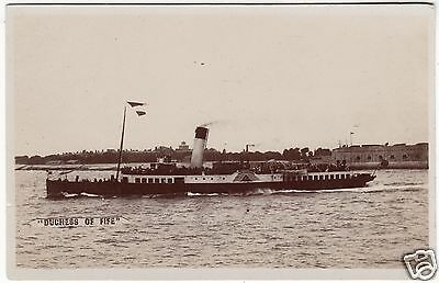 PADDLE STEAMER DUCHESS OF FIFE - c1920's era Real Photo Shipping postcard