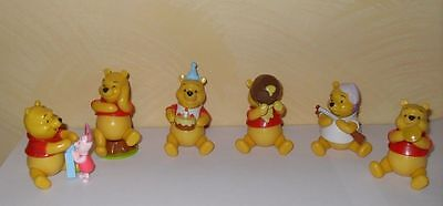 6 Personaggi Winnie the Pooh Action Figures 8 cm Nuovi