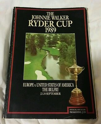 GOLF 1989 The Johnnie Walker Ryder Cup  Official Souvenir Programme EX condition