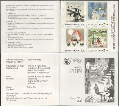 Finland 1992 Moomins/Moomin Books/Comic Strip/Cartoons/Animation 4v bklt  s4559t