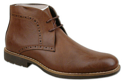 Mens Brand New Brown Lace Up Fashion Ankle Boots UK Size 7