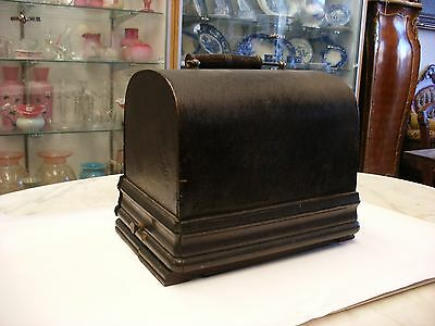 Original Edison Gem Crank Wind Cylinder Phonograph - Base & Cover Only - As is!