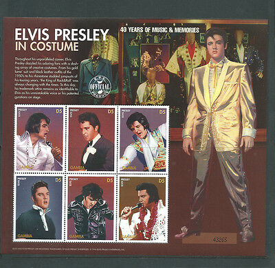 Gambia unmounted mint Elvis Presley sheet MNH