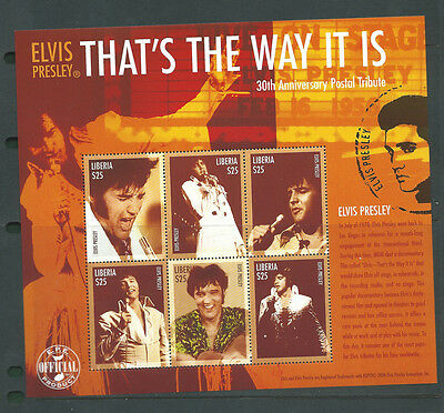 Liberia unmounted mint Elvis Presley sheet MNH
