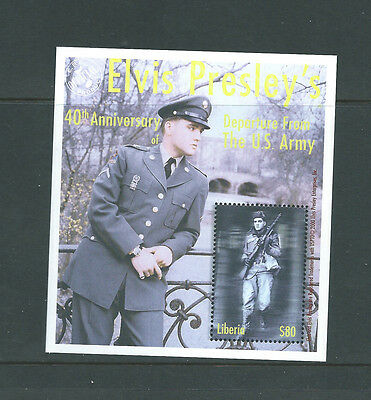 Liberia unmounted mint Elvis Presley Elvis leaves the army minisheet MNH