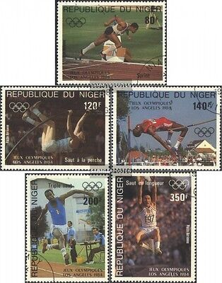 Niger 876-880 (complete issue) used 1984 Summer Olympics, Los A