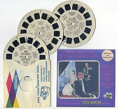 1953 Coronation of Queen Elizabeth View-Master Reels Only and Copy Front Cover