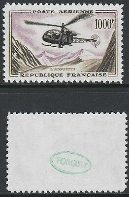 France  (2110) - 1957 Helicopter 1000f -  a Maryland FORGERY unused