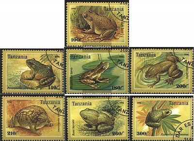 Tanzania 2264-2270 (complete issue) used 1996 Anurans