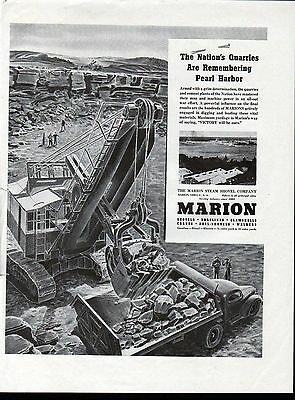 Old Marion Steam Shovel Co Nation's Quarries Are Remembering Pearl Harbor Ad