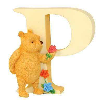 Classic Pooh Alphabet Letter P Winnie The Pooh With Flowers Figurine New A6631