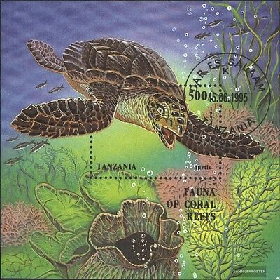 Tanzania block280 (complete issue) used 1995 Seafood