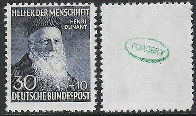 Germany - West  (2111) - 1952 Henri Dunant -  a Maryland FORGERY unused