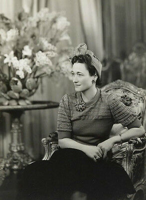 Photograph Wallace Wallis Simpson, Duchess of Windsor Black and White PHOTO