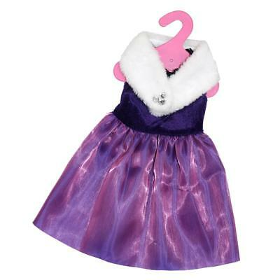 """Party Formal Dress & Scarf Clothes For 18"""" American Girl Our Generation Doll"""