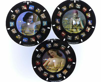 1950s Nudes from Stereo Realist slides in 3 View-Master reels (#4, 5, 6)