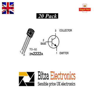 2N2222a NPN Silicon Transistor - Pack of 20 Uk Seller