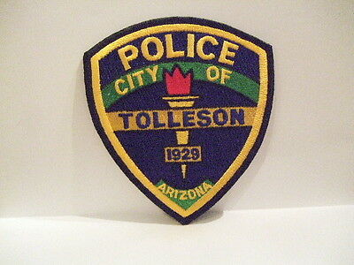 police patch CITY OF TOLLESON POLICE  ARIZONA