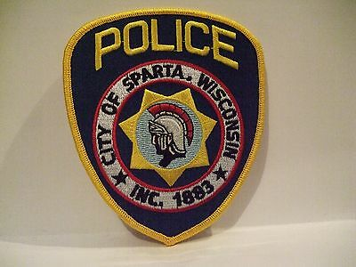 police patch    CITY OF SPARTA POLICE WISCONSIN