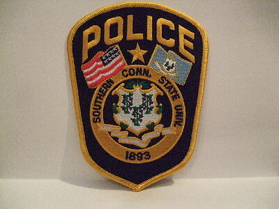 police patch  SOUTHERN CONNECTICUT UNIVERSITY  POLICE CONNECTICUT