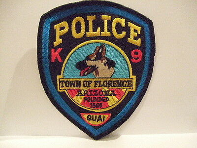 police patch TOWN OF FLORENCE POLICE K9  ARIZONA
