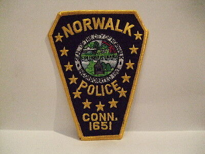 police patch  NORWALK  POLICE CONNECTICUT
