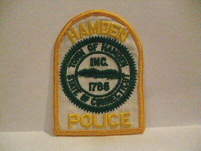 police patch  HAMDEN POLICE CONNECTICUT