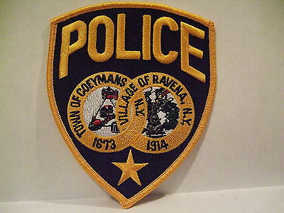 police patch  TOWN OF COEYMANS  VILLAGE OF RAVENA POLICE NEW YORK