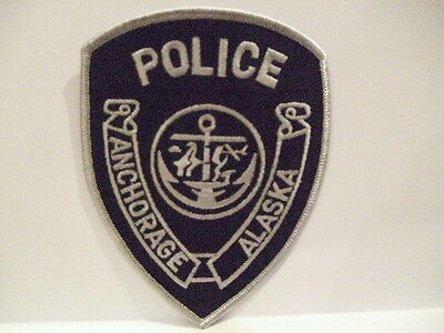 police patch  ANCHORAGE   POLICE ALASKA SUBDUED